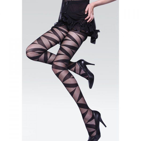 Retro Style Thin Transparent Skinny Black Nylon Women's Tights, BLACK, ONE SIZE in Leggings | DressLily.com