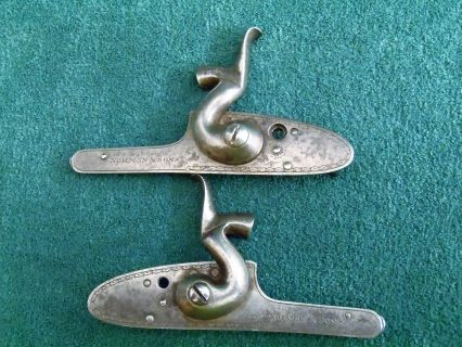 Pair of Norman &.  Sons Percussion cap locks for black powder shotgun or pistol. Both in a lovely condition and fully working.