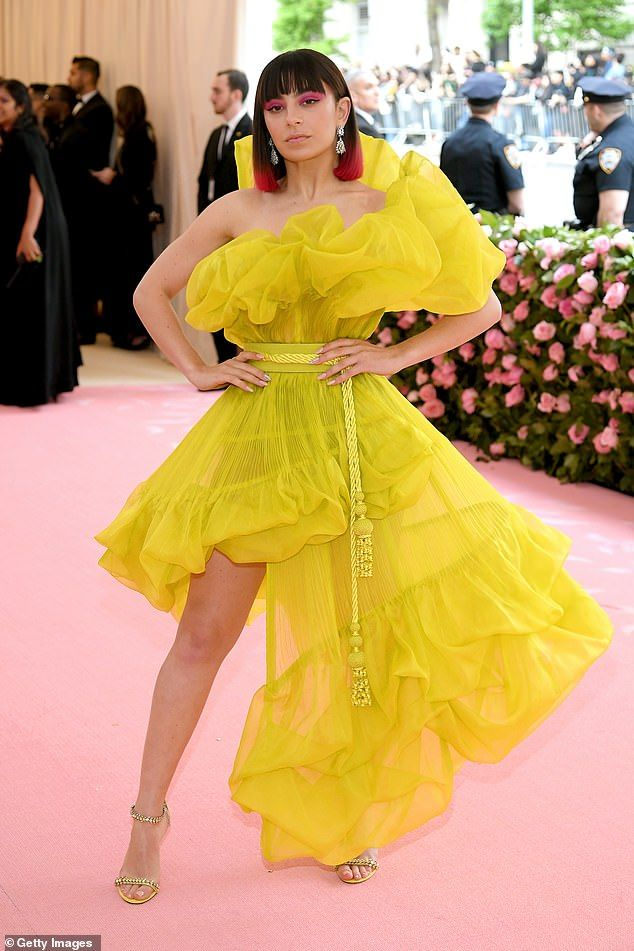 2e02ede4d494 Met Gala 2019: Charli XCX turns heads in a ruffled neon yellow dress |  Fashion Inspiration | Met gala, Fashion, Red carpet fashion