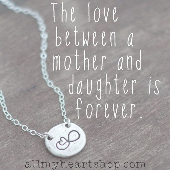 Mother And Daughter Love Quotes: Necklace For Daughter Infinity With Heart By