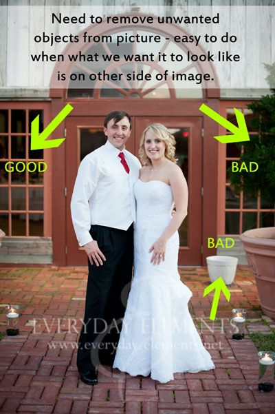 Masking in Photoshop to remove unwanted objects - when you have an image that is symmetrical or nearly so, and one side is perfect while the other is wrought with problems - duplicate the background and flip the layer horizontally.