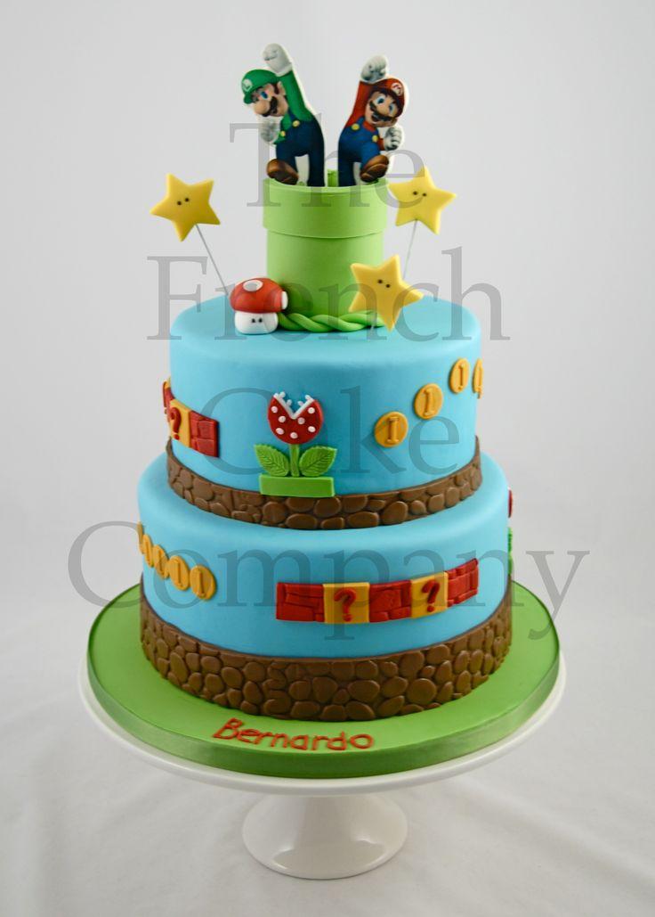 Cake for boys mario and luigi gateau d 39 anniversaire pour enfants garcon mario et luigi - Idee gateau anniversaire garcon ...