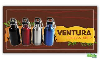 Ventura types 600ml capacity Drinking bottles Mizzu product is setting new standards in design, functionality, quality, safety. Tumbler made of stainless steel has a compact form, the lid is made of hard plastic bottles using screw so that the contents will not spill, is also equipped with an aluminum hook. This bottle is very elastic, not easily broken or dented, drinking bottle has a durability in the long term.