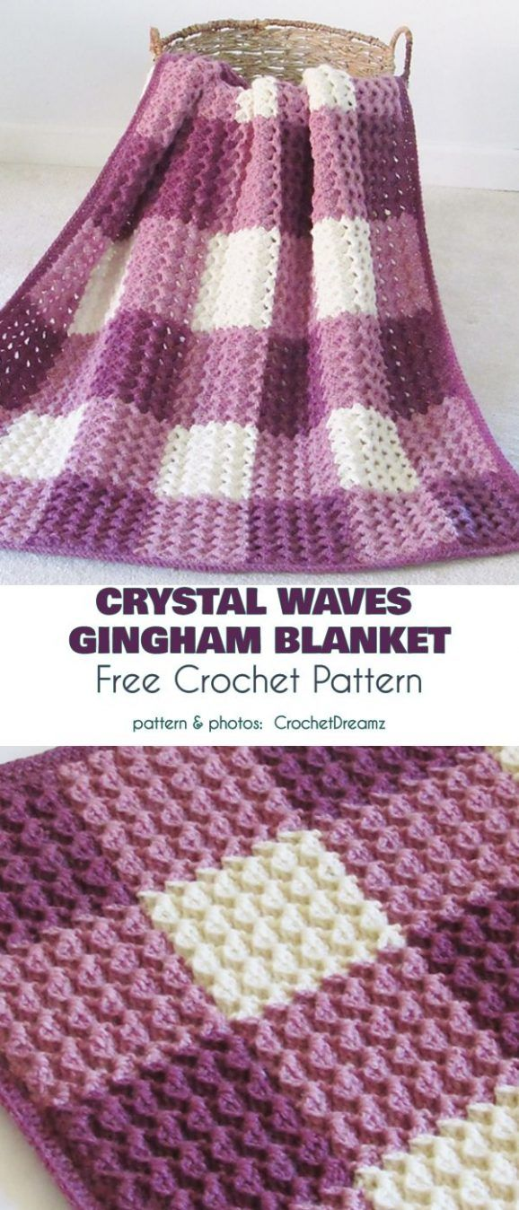 Charming Gingham Crochet Ideas And Free Patterns Crochet Blanket Patterns Crochet Free Crochet Pattern