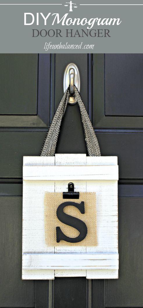 Best 25+ Monogram door hangers ideas on Pinterest | Letter ...
