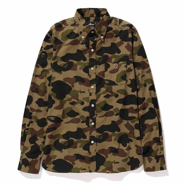 Mr Bathing Ape 1st Camo Button Down Shirt Bape Japan New