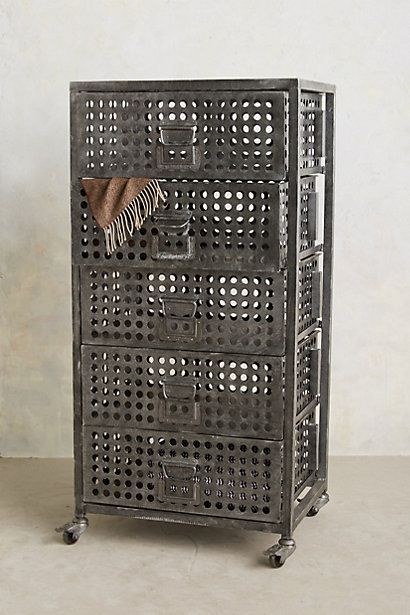 Galvanized Tower Dresser - anthropologie.com On sale $700 possible shoe storage.