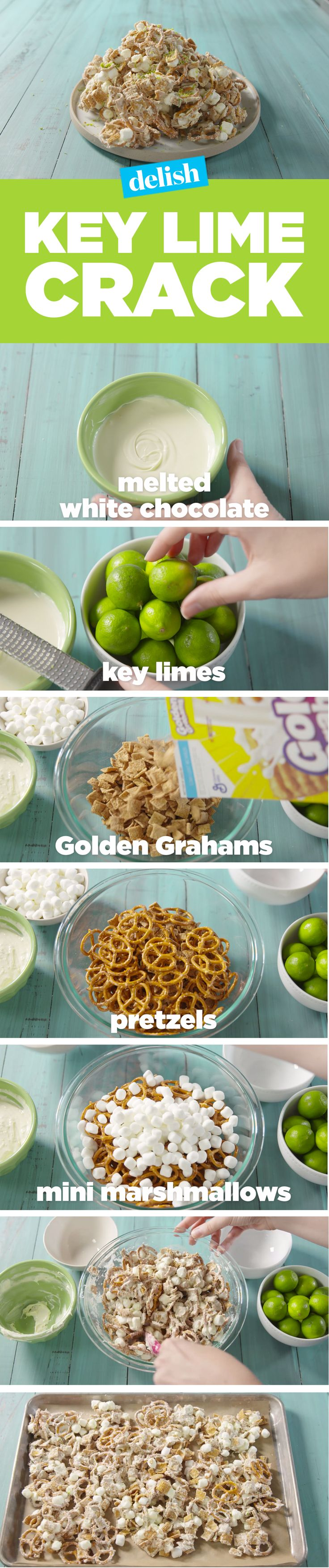 Key Lime Crack is going to be your new favorite snack. Get the recipe on Delish.com.