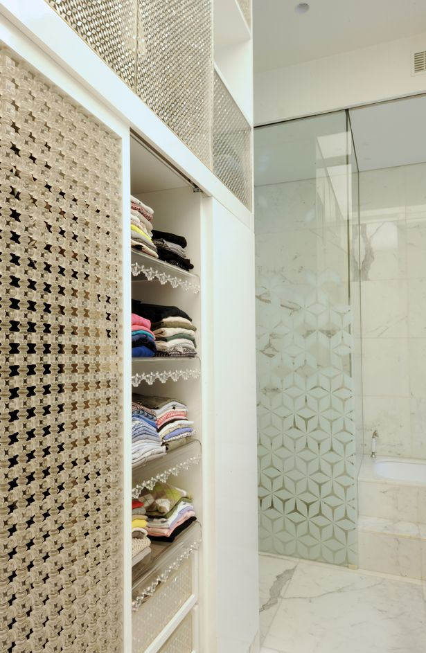 bathroom white marble and storage n residence in sursock by raed abillama