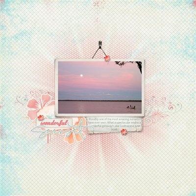 1 photo + frame + paper