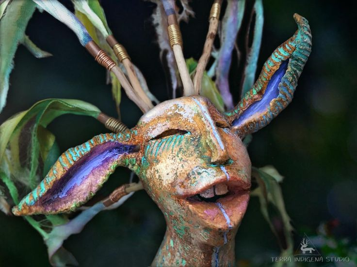 """daiMONIon - protective little creature"" by Terra Indigena Studio - detail"
