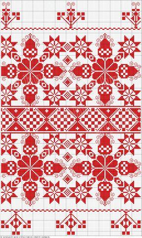 Párnahéj elejének részlete. Gyakori szőttes jellegű minta. Kapuvár (77.375). Az alsó ugyanannak az oldaláról való, a felső egy másikéról. Csorna (81.215).