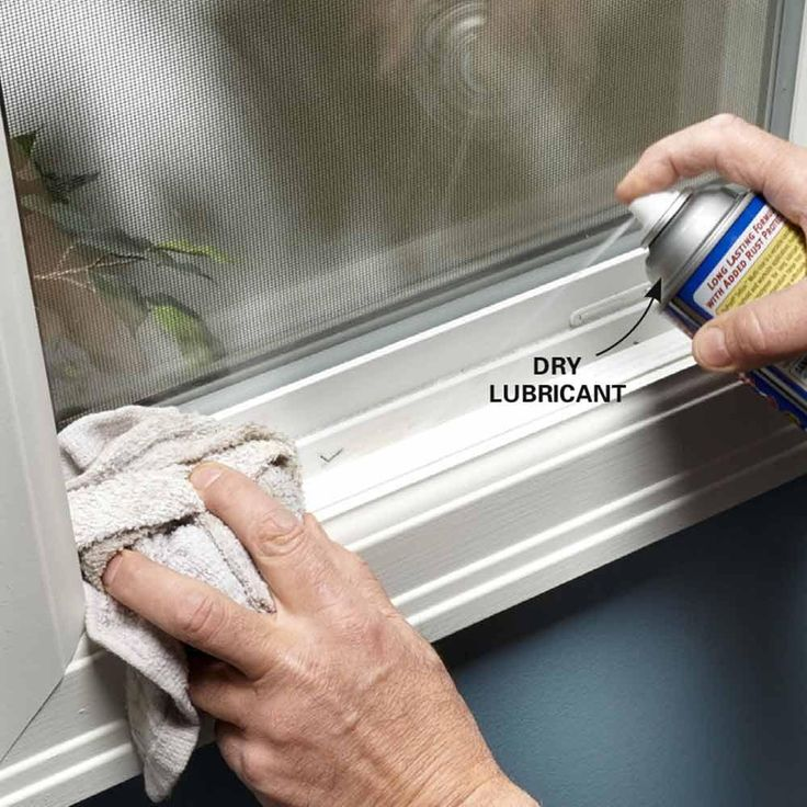 Lube a Sticking Vinyl Window or Door - 10-Minute House Repair and Home Maintenance Tips: http://www.familyhandyman.com/smart-homeowner/diy-home-improvement/10-minute-house-repair-and-home-maintenance-tips#2