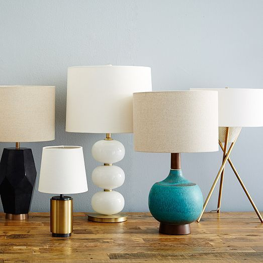 Nouveau mid-century modern table lamps at west elm    #light / #lighting / #midcentury                                                                                                                                                      More