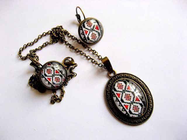 #Set #bijuterii, #bronz şi #sticlă cu #motive #tradiţionale #româneşti, set #cadou #femei / Set of #jewelry, #bronze and #glass with #traditional #Romanian #motifs, set #women #gift / #보석, #청동과 #전통적인 #루마니아어 #모티프와 #유리 #세트, #여자 #선물 #세트 http://handmade.luxdesign28.ro/produs/set-bijuterii-bronz-si-sticla-cu-motive-traditionale-set-cadou-femei-29263/