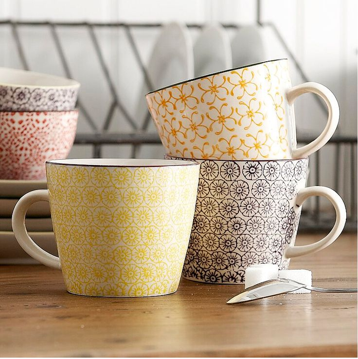 So, I have a slight addiction to coffee mugs and I think these are so cute!