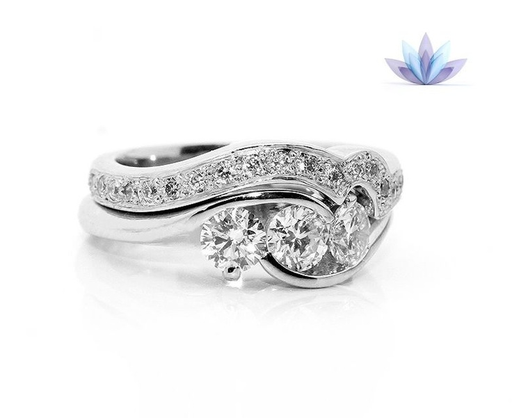 17 best Shaped Wedding Rings images on Pinterest Wedding bands