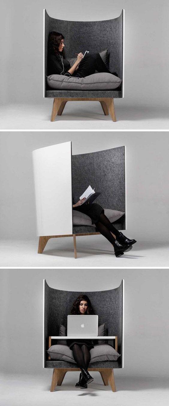 Het spreekt me aan omdat het een grote stoel is en je bent niet snel afgeleid omdat er 2 hogen muren zitten . Ik zou allen gebruiken.