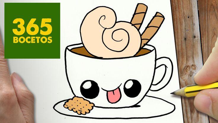 COMO DIBUJAR CAFE KAWAII PASO A PASO - Dibujos kawaii faciles ...