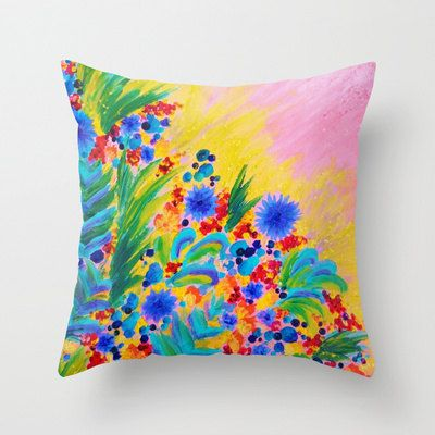 NATURAL ROMANCE in PINK Fine Art Floral Decorative 18x18 Throw ...