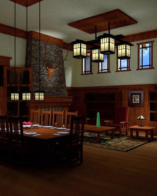 Blender 3D - Craftsman / Arts and Crafts 3d Render    Blender 3D 2.64 CGI 11/10/2012    by yodamon