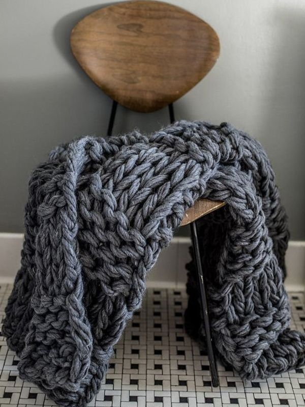 Knitting Without Needles Blanket : Flax twine talks about arm knitting beautiful the o