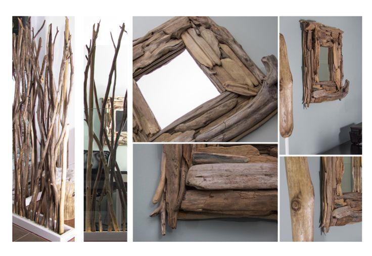 Miroir en bois flotté et paravent au DEL par Pür cachet  ! Cliquez ici pour voir les options de paravents disponible : http://www.purcachet.com/index.php/vente-en-ligne-paravents