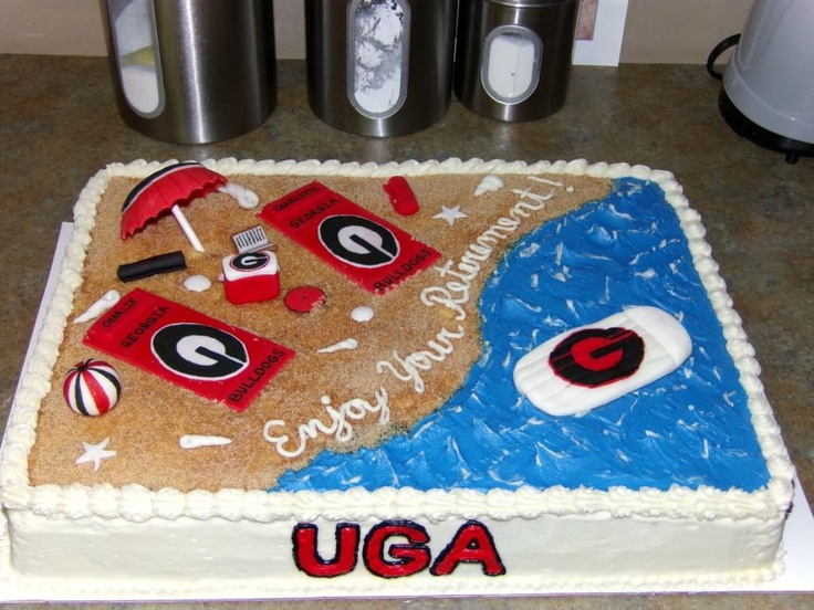 Cake Art Ga : RETIREMENT GEORGIA BULLDOGS BEACH CAKE Georgia Bulldogs ...