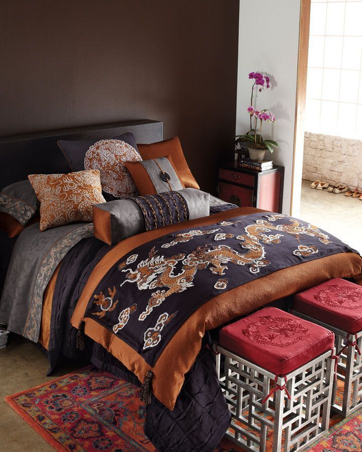 Oriental bedroom - Asian bedding by Oriental Decor · #AsianHomeDecor #AsianHomeDécor,