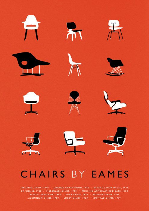 eames print | mid-century modern chair illustration retro via Etsy. awesome.