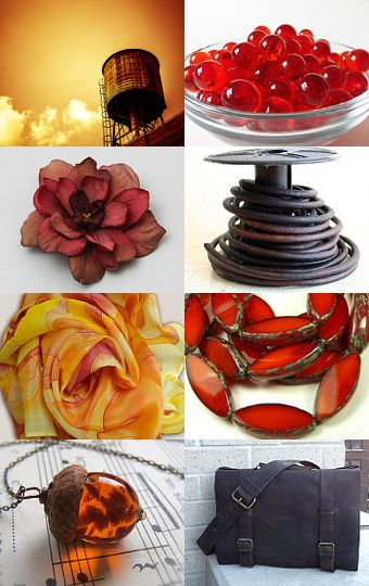 Autumn Burn by Beverly Ash Gilbert on Etsy--Pinned with TreasuryPin.com, Repin if you love Burnt Orange and Brown!