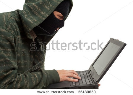 Hacker with a hoodie.