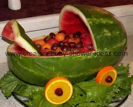 baby carriage fruit salad baby shower ideas pinterest