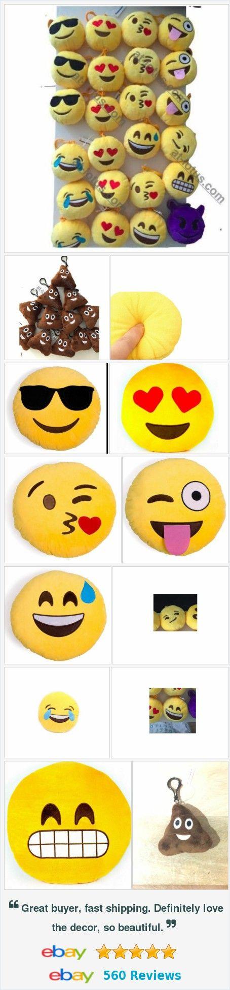 "Emoji Poop Smiley Face emoticon 3"" Plush clip-on keychain backpack accessory http://www.ebay.com/itm/Emoji-Poop-Smiley-Face-emoticon-3-Plush-clip-on-keychain-backpack-accessory-/182062889956?rd=1"