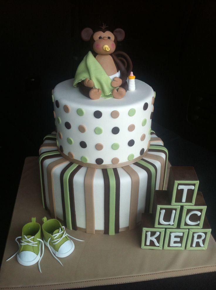 26 best cake monkeys images on pinterest monkey cakes descendants cake and birthdays - Monkey baby shower cakes for boys ...
