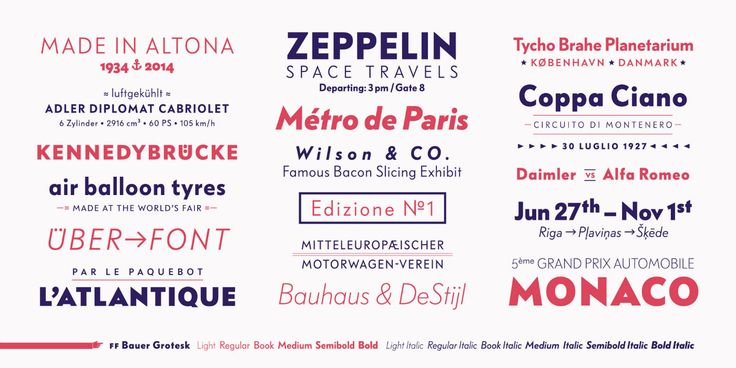 Bauer Grotesk #Typo #Typedesign