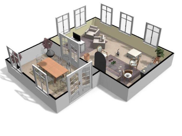 Service de plan de maison 3D : gratuit et en ligne - HomeByMe | Plan maison 3d, Maison 3d, Plan ...
