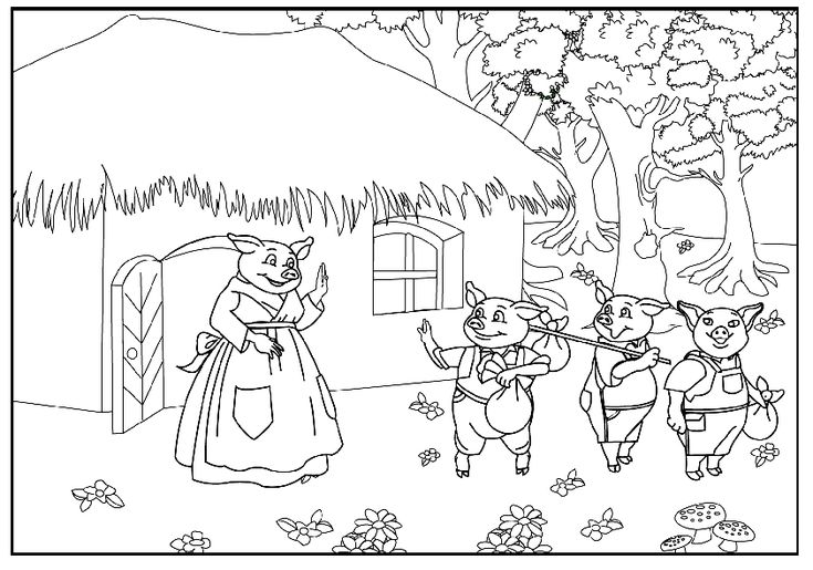 little pig coloring pages - photo#24