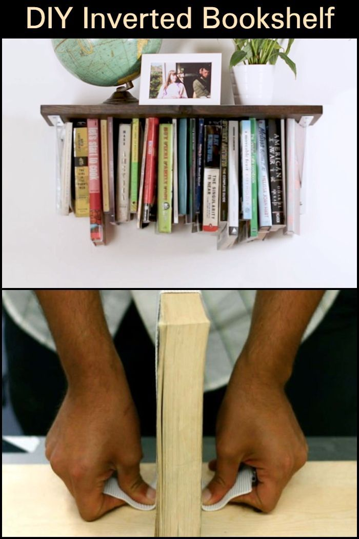 This Inverted Bookshelf Is A Fun Quirky Way To Display Your Collection Of Books