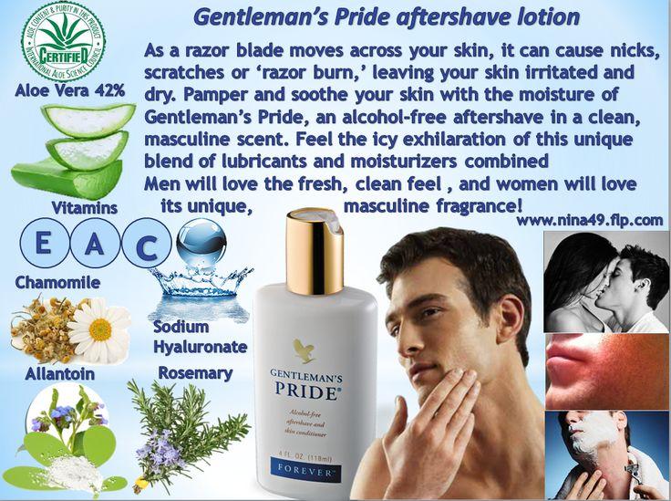 Order Gentlemant's Pride after shaving lotion at www.nina49.flp.com