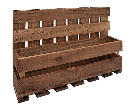 Estante para vinos y copas en madera de pino - envejecido