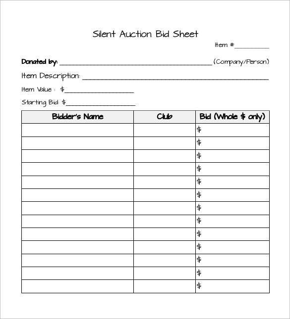 Best 25+ Silent auction bid sheets ideas on Pinterest Silent - football score sheet template