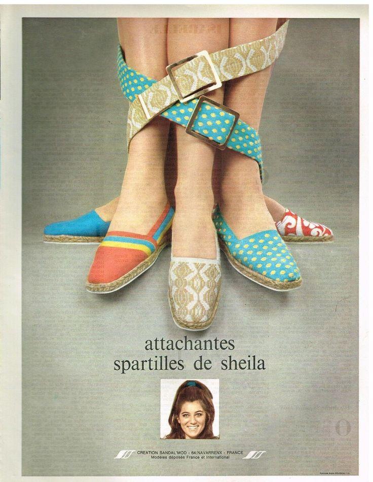 Publicité Advertising 1969 Les Chaussures Espadrilles Spartilles de Sheila | eBay