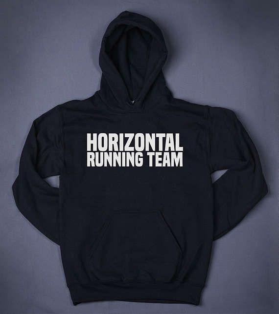 Horizontal Running Team Gym Tops Slogan Sweatshirt Hoodie