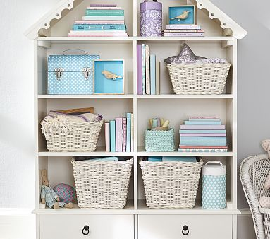 Dollhouse Bookcase #pbkids  I think this could be a knock off for Madisons room.. HMMM
