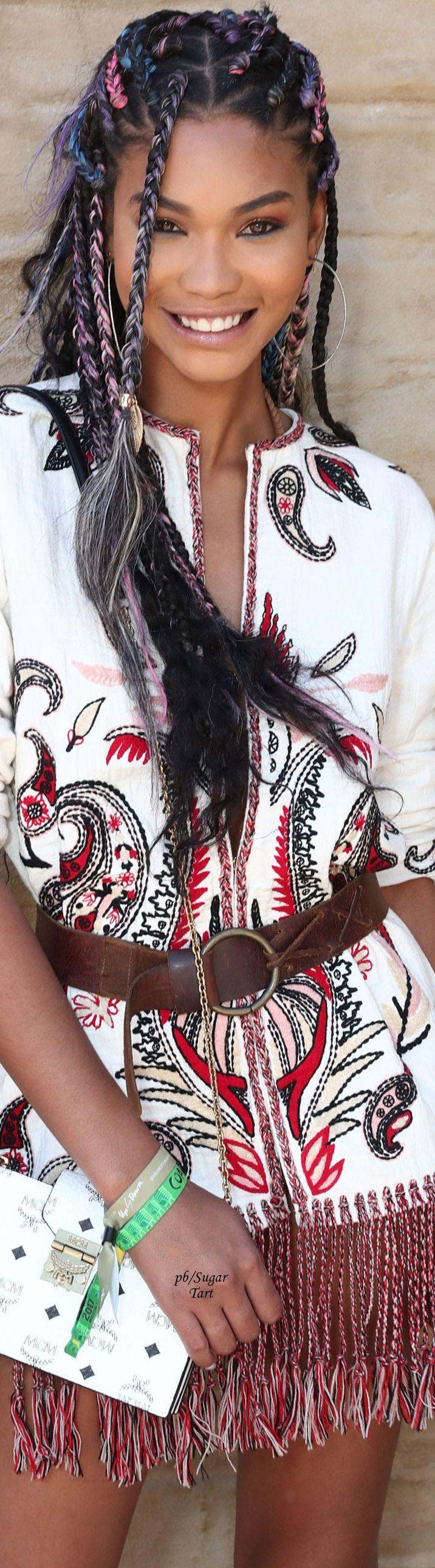 Chanel Iman - Coachella Style