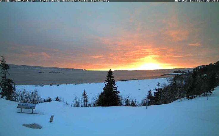 March 16, 2015 #sunset at #FundyForce http://www.novascotiawebcams.com/en/webcams/fundy-ocean-research-center-for-energy/ #NovaScotia #NSWebcams #Canada #Force