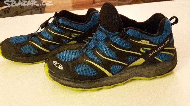 Krásné sportovní turistické boty značky Salamony ve - obrázek číslo 1