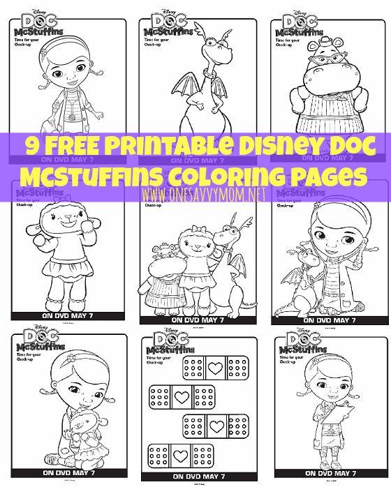 9 Free Disney Doc McStuffins Printable Coloring Pages