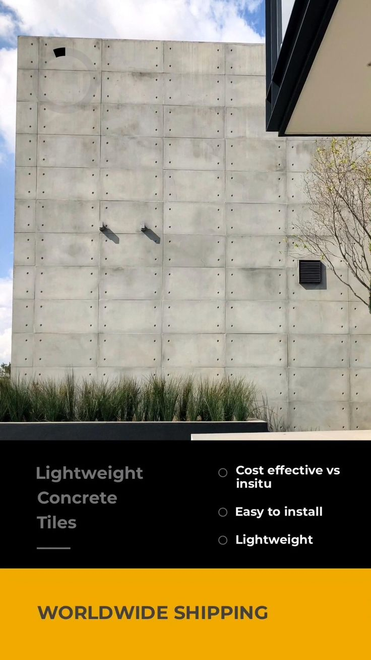 Lightweight Concrete Wall Tiles Konkrete4 By Float Video In 2020 Contemporary House Design Modern House Design Polished Concrete